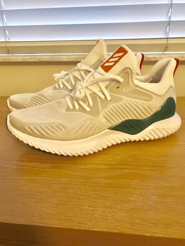 timeless design 91d68 0b841 EXCLUSIVE ADIDAS ALPHABOUNCE MIAMI HURRICANES CUSTOM SIZE 13 for ...