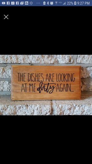 "Handmade wooden sign ""the dishes..."" for Sale in Frederick, MD"