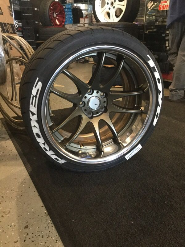 Work Emotion CR2P 2 piece 18x10.5 +5 with Toyo tires for ...