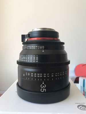 Xeen 35mm T1.5, Canon EF (excellent) for Sale in New York, NY