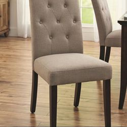 Brand New Contemporary Upholstered Tufted Dining Side Chair Thumbnail