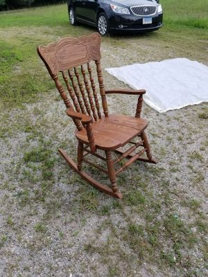 All wood rocking chair for Sale in Crewe, VA