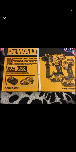 Photo Brand new. DEWALT XR 2-Tool 20-Volt Max Brushless Power Tool Combo Kit with Soft Case (Charger Included and 2-Batteries Included. Asking $220