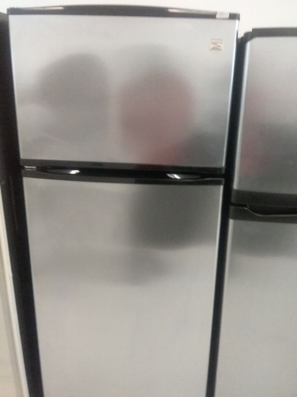 Kenmore top and bottom stainless steel refrigerator used good condition 90days warranty