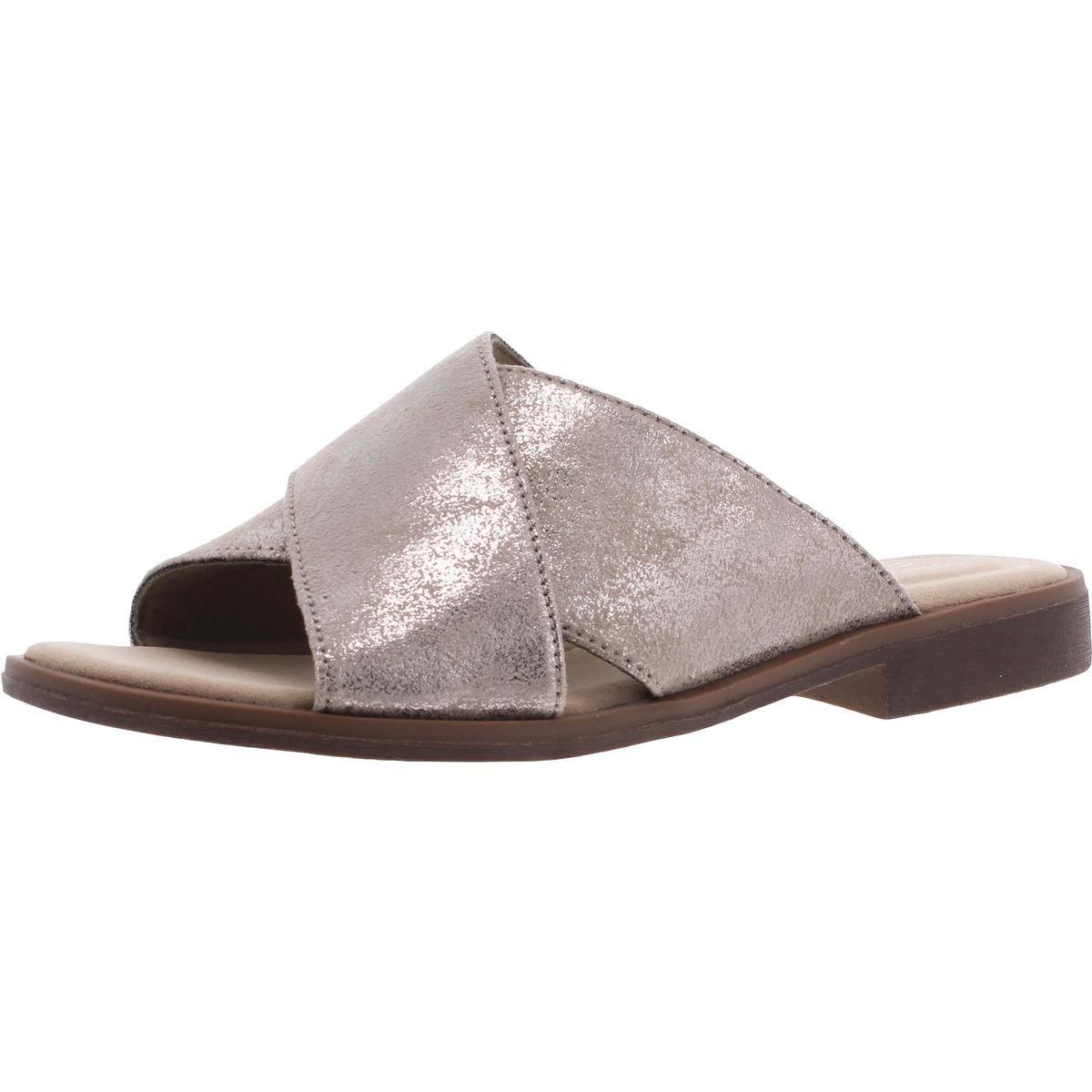 Clarks Womens Slide Sandals Metallic Size 8 Medium (B,M)