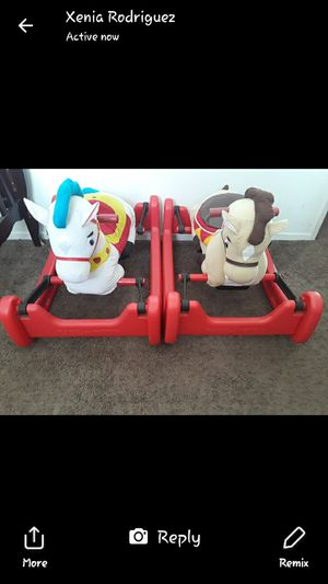 2 horse toys for kids for Sale in Oxnard, CA