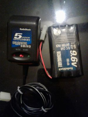 9.6v ni-cd R/C battery pack and charger for Sale in Cleveland, OH