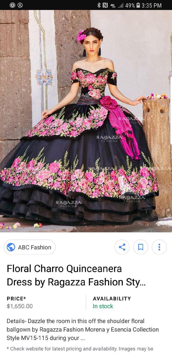 f5ae69b06e9 2018 Floral Charro Quinceañera Dress for Sale in San Jose