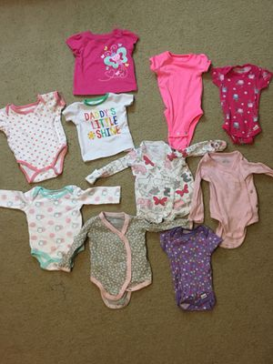 Baby clothes, hats, shoes, mittens, socks, jacket, diapers, walker, bouncer and baby toys for Sale in Manassas, VA