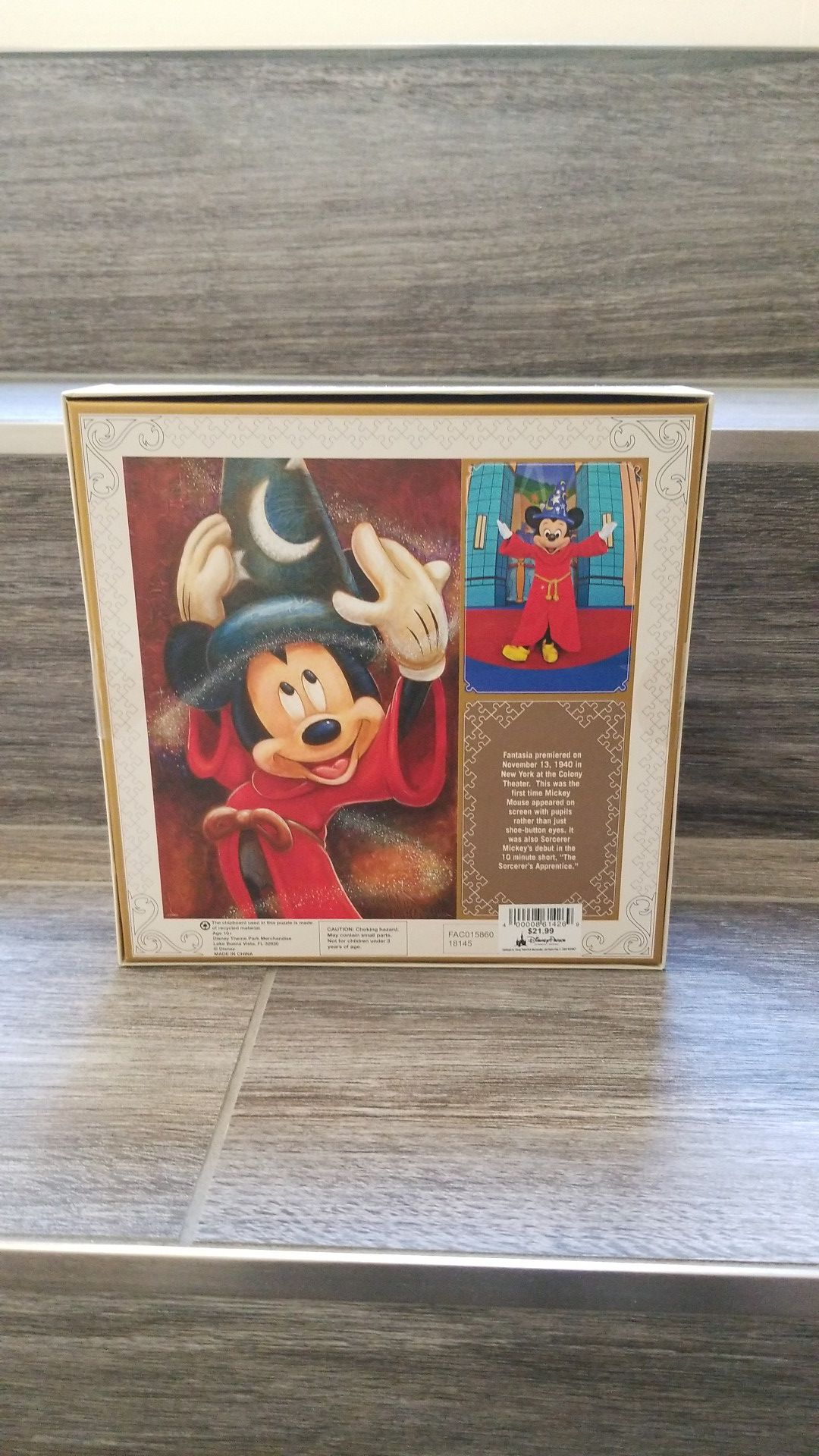 New authentic Disney Parks signature puzzle 1000 piece Mickey mouse sorcerer