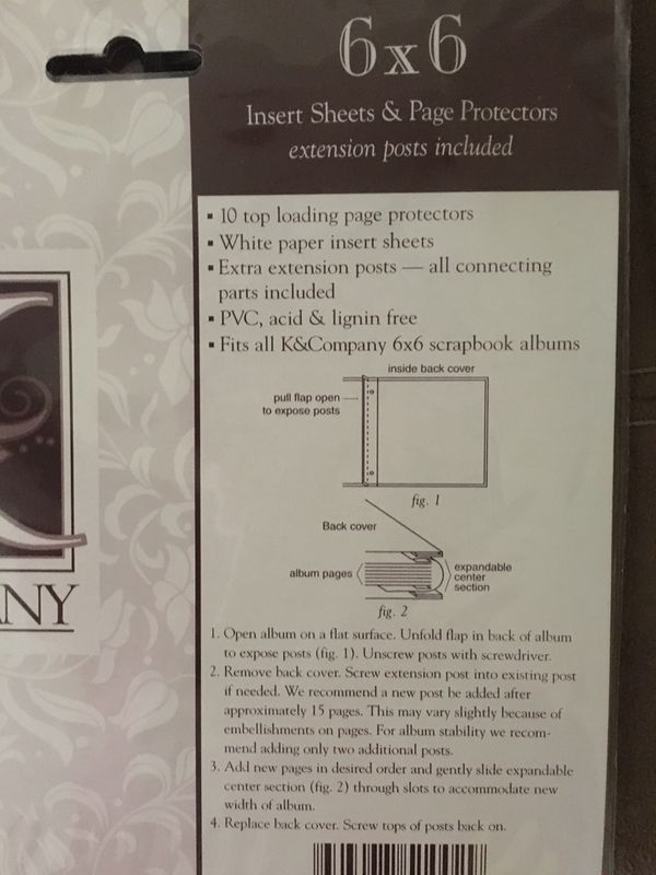 Kcompany Refill Kit 6 X 6 Album Insert Sheets Page Protectors For