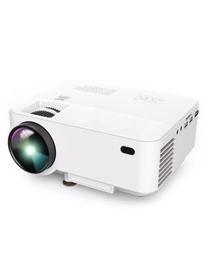 DBPOWER T21 Upgraded LED Projector,1800 Lumens Multimedia Home Theater Video Projector Supporting 1080P, HDMI, USB, SD Card, VGA, AV for Home Cinema, for Sale in New York, NY