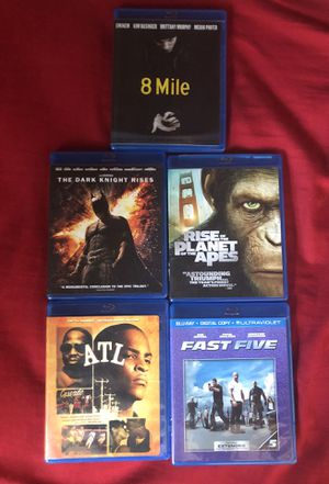 Movies for sale Blu-ray five dollars each one and the other ones to dollars each one In the game Xbox is for $10 for Sale in Farmersville, CA