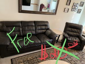 Free couch and chair set for Sale in Manassas, VA