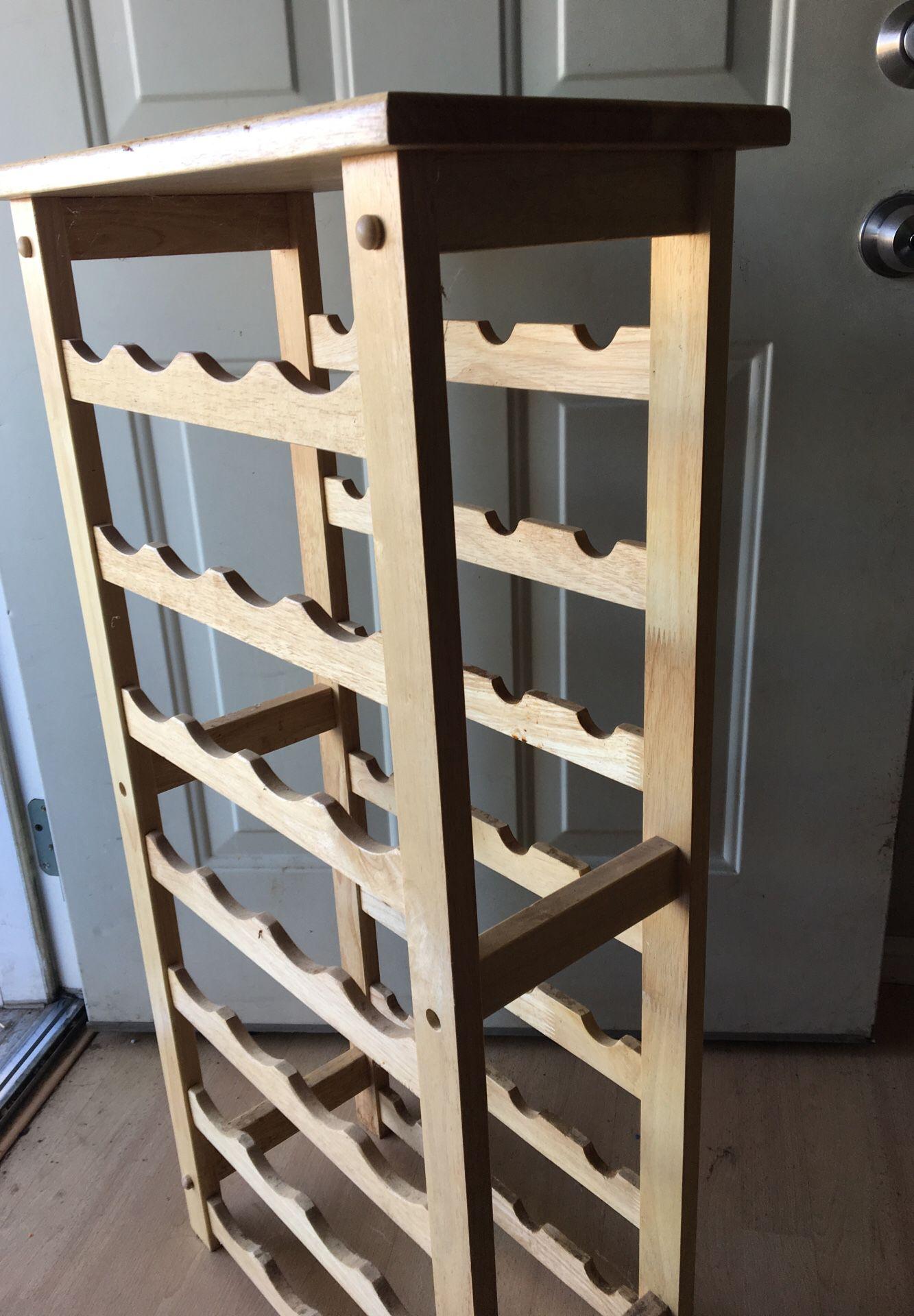 Wooden Wine rack 2ft tall 1.5 width holds 28 wine bottles