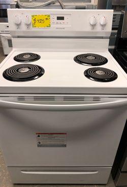 New White Frigidaire electric 4 coil burners range Thumbnail