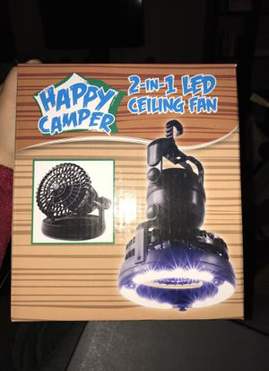 2 in 1 LED CEILING FAN FOR CAMPING for Sale in Los Angeles, CA