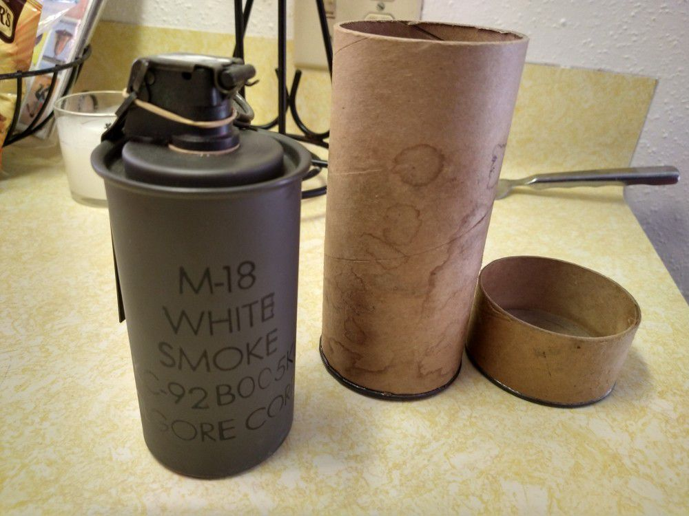 M-18 white smoke grenade