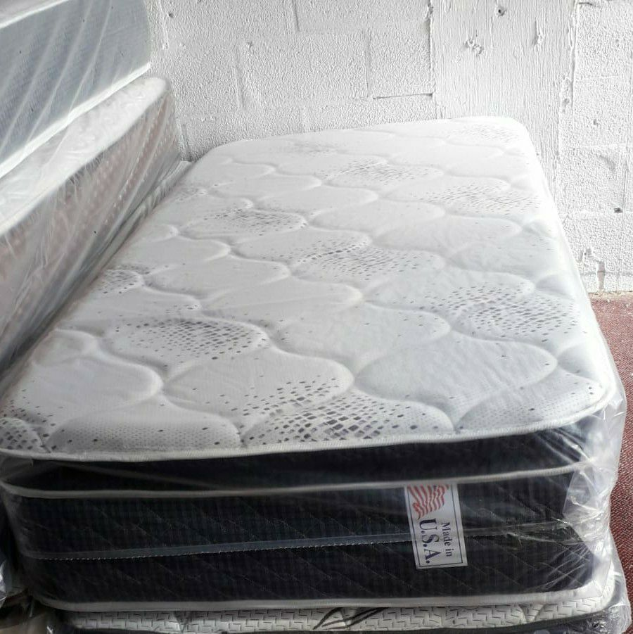 GREAT SALE TWIN PILLOWTOP MATTRESS WITH FREE BOX SPRING