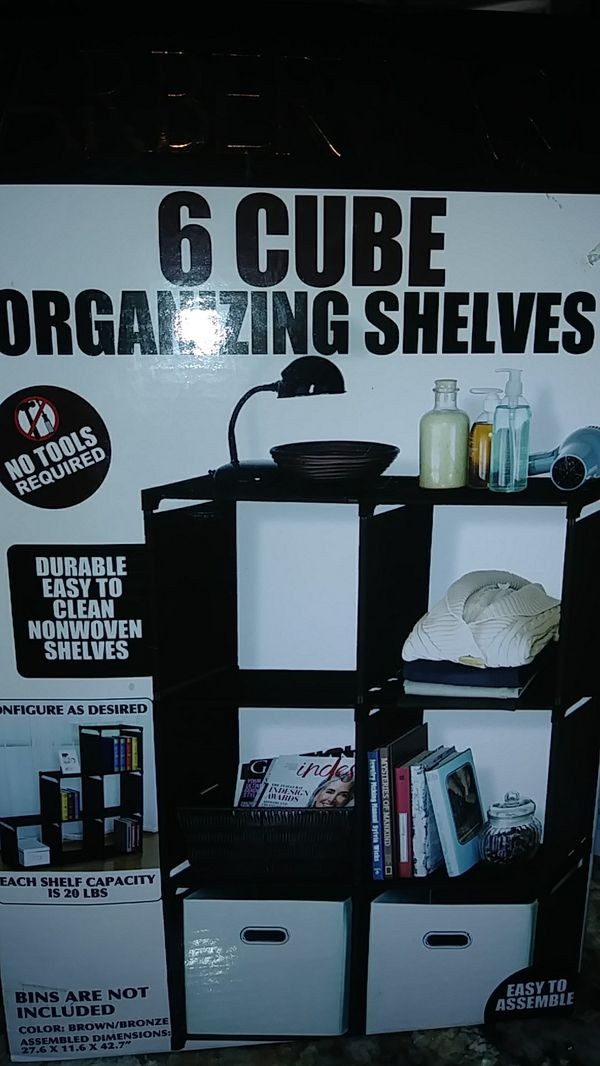 d426c4267947 6 Cube organizing shelves Farberware for Sale in Mesa, AZ - OfferUp