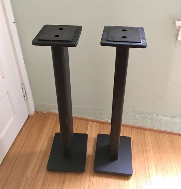 Pair DR Pro DRPRO SMS1BK Wood Studio Monitor Stand Black