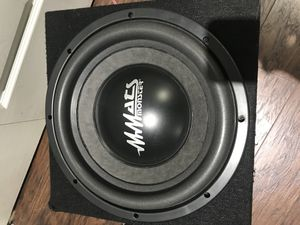"Mmats pro audio monster 12"" subwoofer dual 2 ohm for Sale in Parkland, FL"