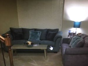 Photo 3-piece living room table and end tables and Belham TV stand $275.00