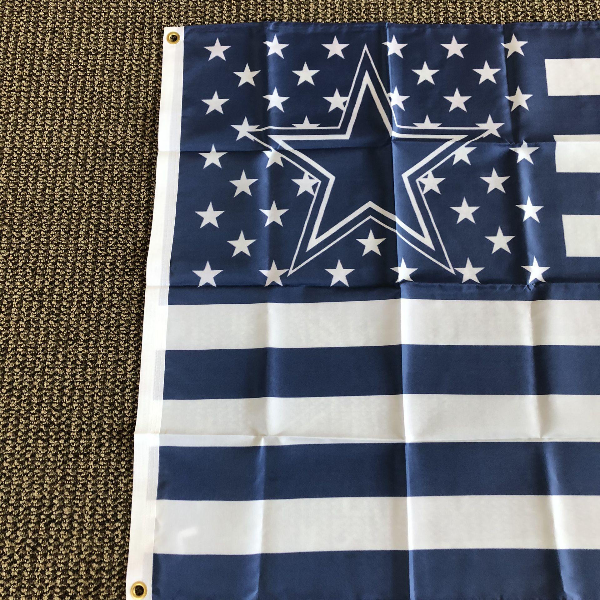 NFL Dallas Cowboys USA New Flag 3' x 5' Metal Grommets