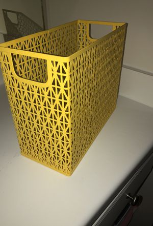 yellow storage organizer for home desk or office! for Sale in Columbus, OH