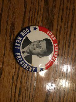 Authentic John Kennedy for President pin Thumbnail