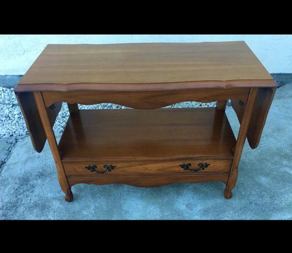 Vintage Maple Drop Leaf Side Coffee Table Sideboard Buffet Furniture In San Francisco Ca Offerup