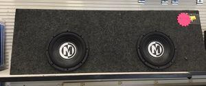 """Photo Memphis audio 10"""" subs in box"""