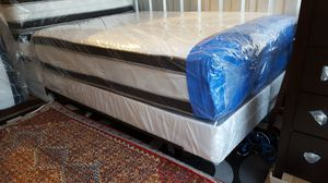 New Queen Size Pillowtop Mattress + Box Spring for Sale in Silver Spring, MD