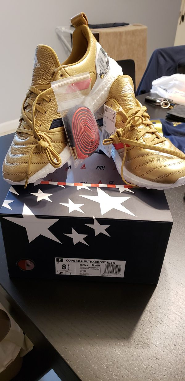 the best attitude bbb55 7a015 Adidas Copa Mundial 18 ultra boost Kith Golden Goal