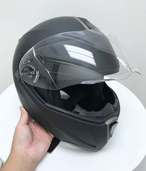 Photo New in box $45 Full Face Motorcycle Bike Helmet Flip up Dual Visor (M, L, XL) DOT Approved