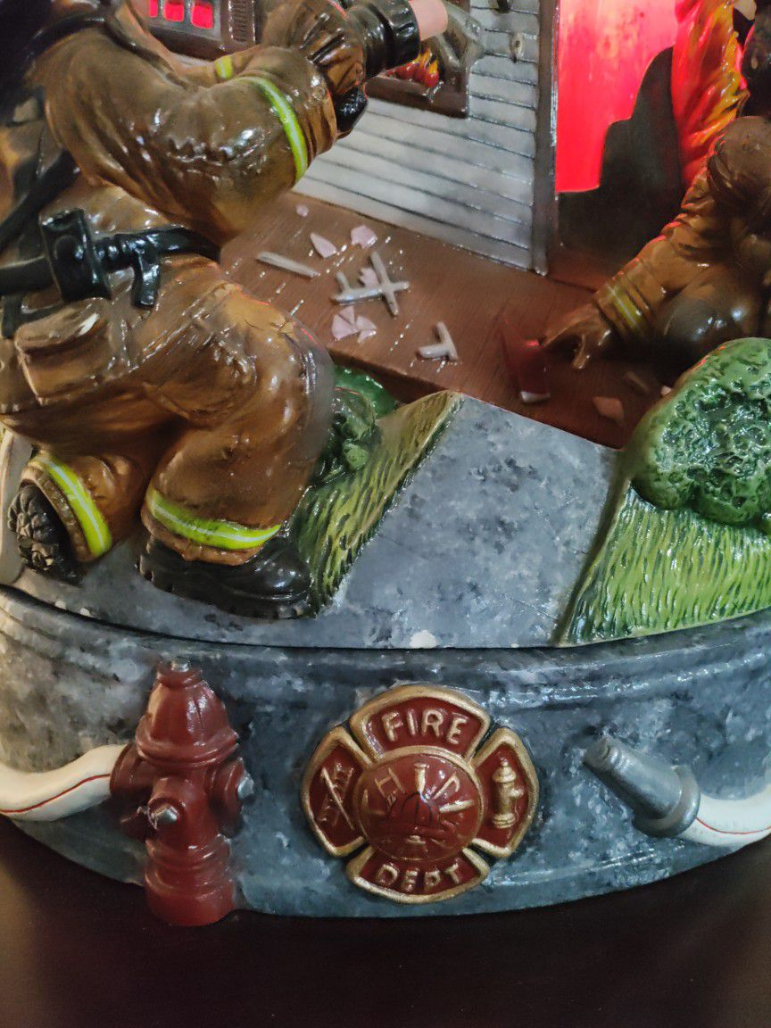 Firefighter Water Fountain