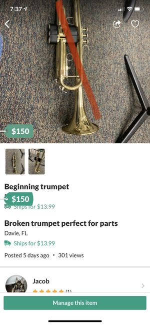 Photo Trumpet for parts