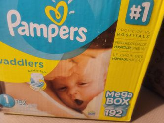 SIZE 1 Pampers Swaddlers 192ct Thumbnail
