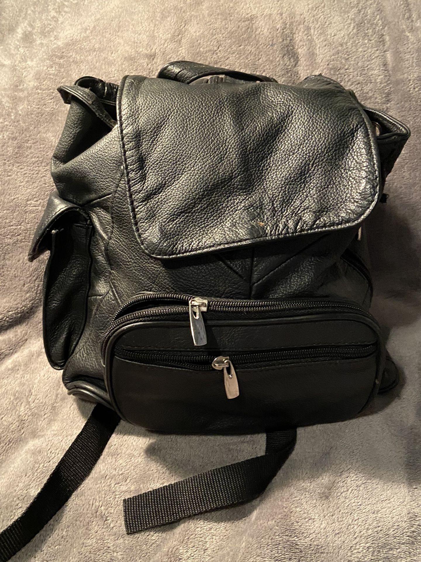 Black Leather Back Pack