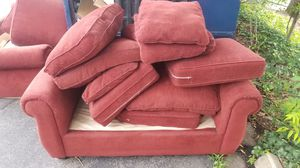 2 free red couches in Rosslyn/Arlington for Sale in Arlington, VA