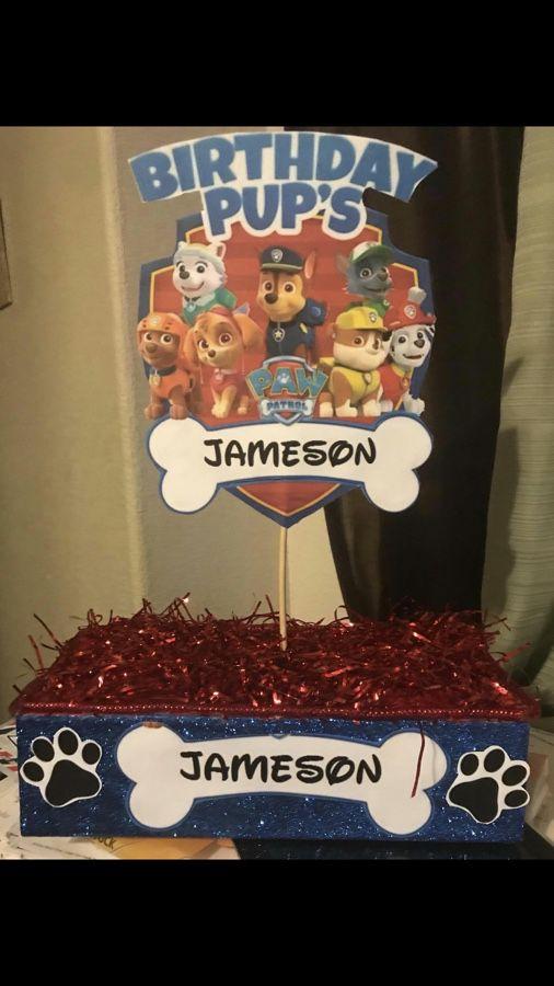 Custom Made Paw Patrol Party Decorations Desert Holders Las Vegas NV