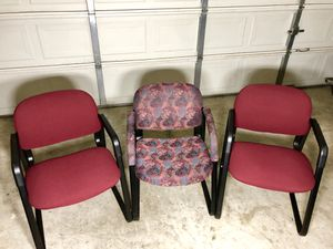 (Set of 3) Office Waiting Room Chairs Like New for sale  Tulsa, OK
