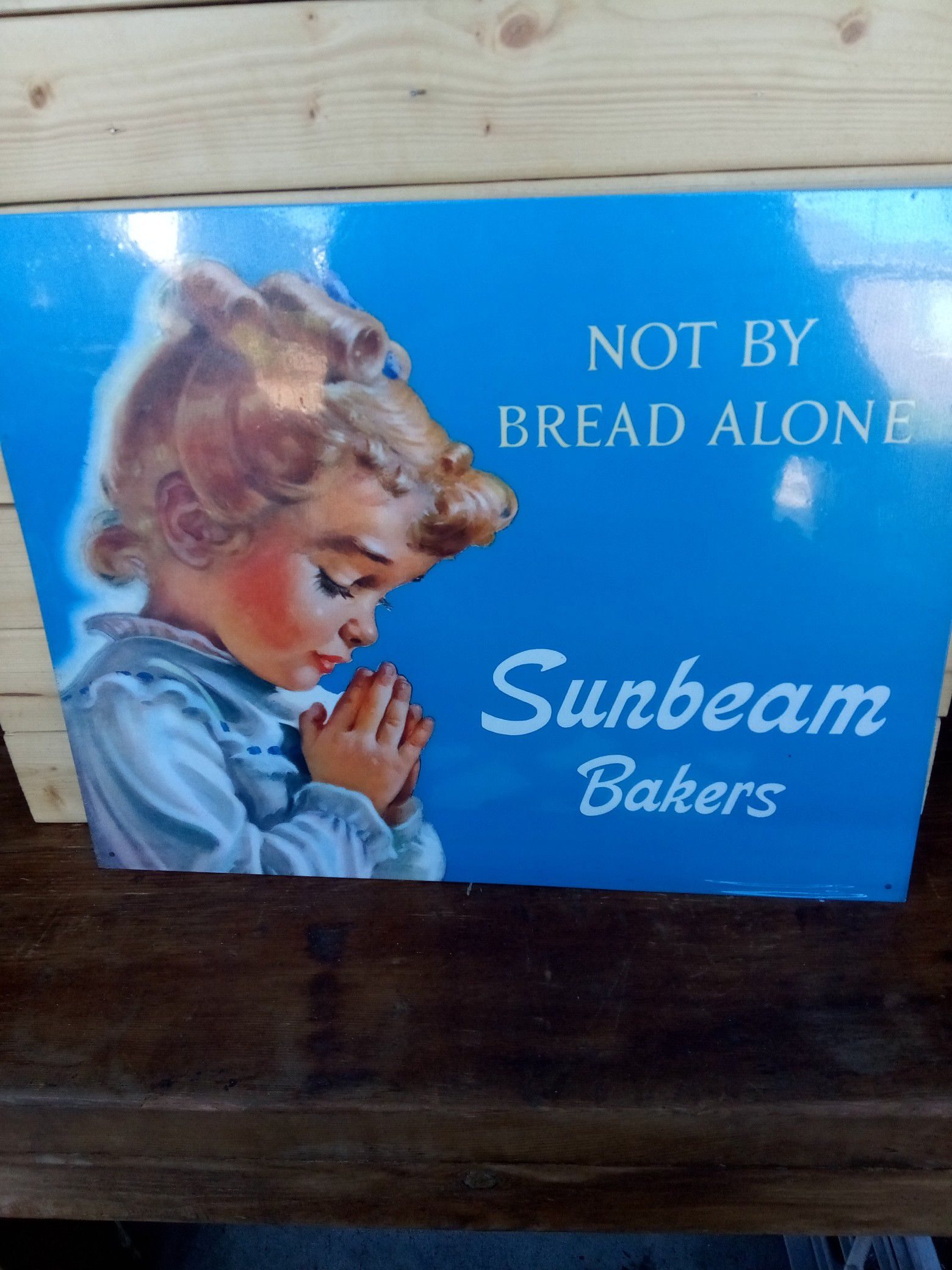 Iconic Sunbeam bakers metal sign 12 x 15 inches