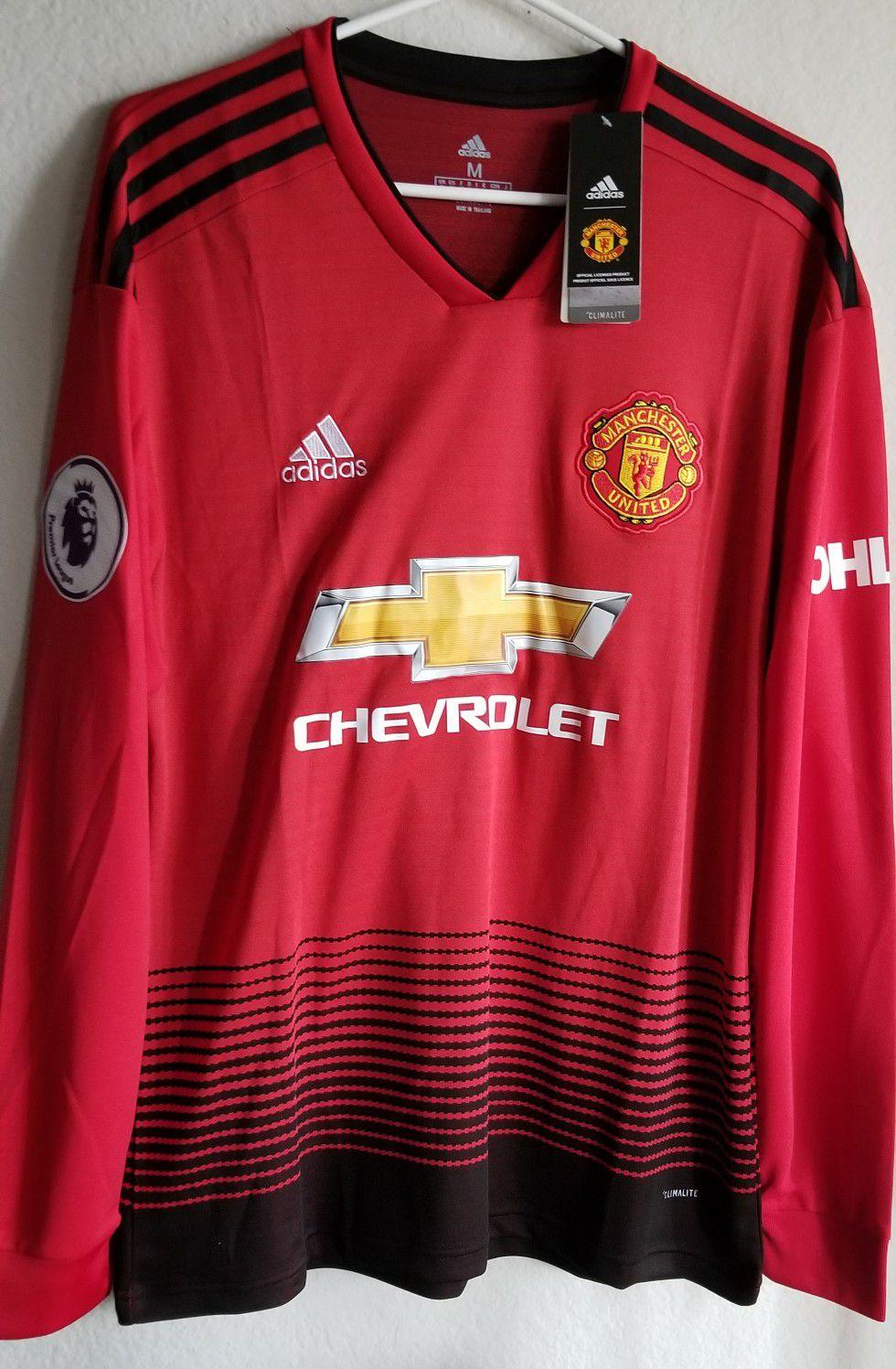 Adidas Mens 2018/19 Man united Home jersey Long sleeves ORIGINAL