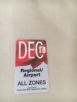 RTD December Regional monthly pass for Sale in Denver, CO