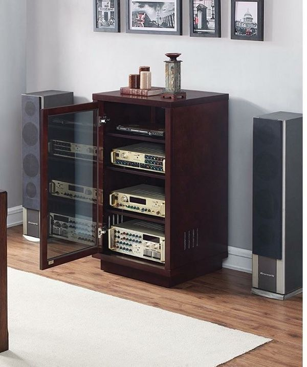 Brand New Never Used Bell O Atc402 Audio Video Component Cabinet Dark Espresso