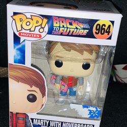 Back to the future Marty with hover board Thumbnail