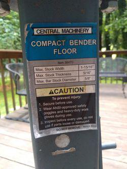 Compact Metal  Bender Floor Mount  Thumbnail