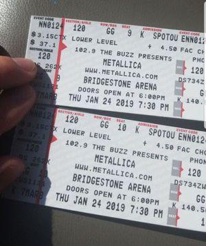 Metallica tickets for Sale in Nashville, TN