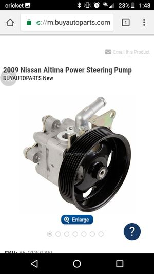 09 Nissan Altima power steering pump for Sale in Silver Spring, MD